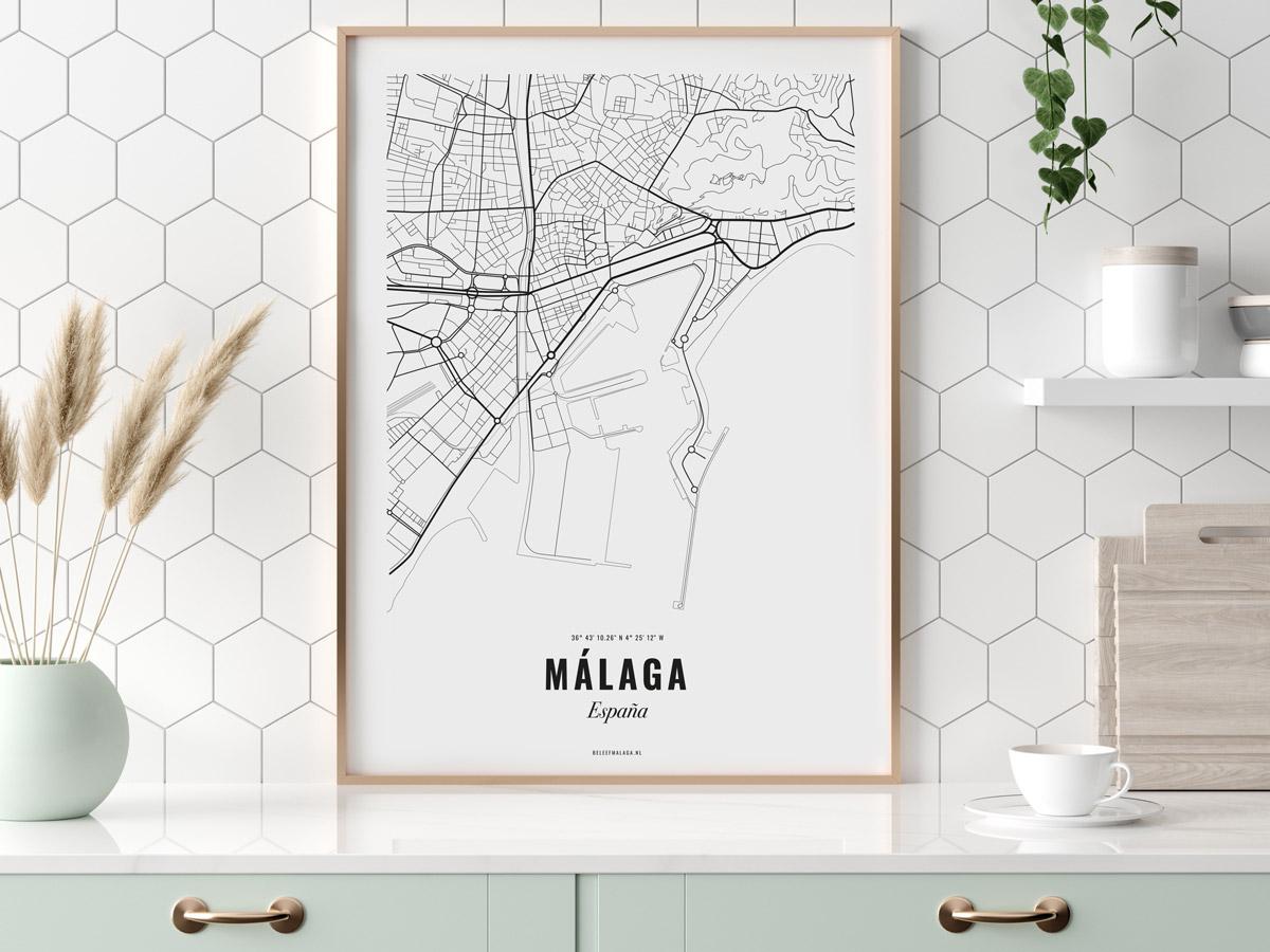 Poster Malaga city
