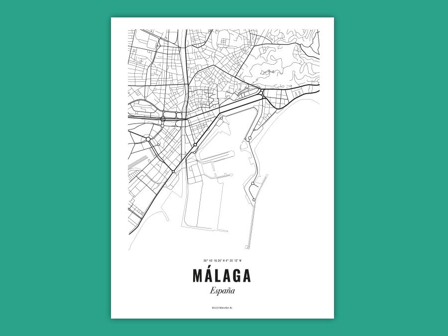 Malaga poster - Citymap