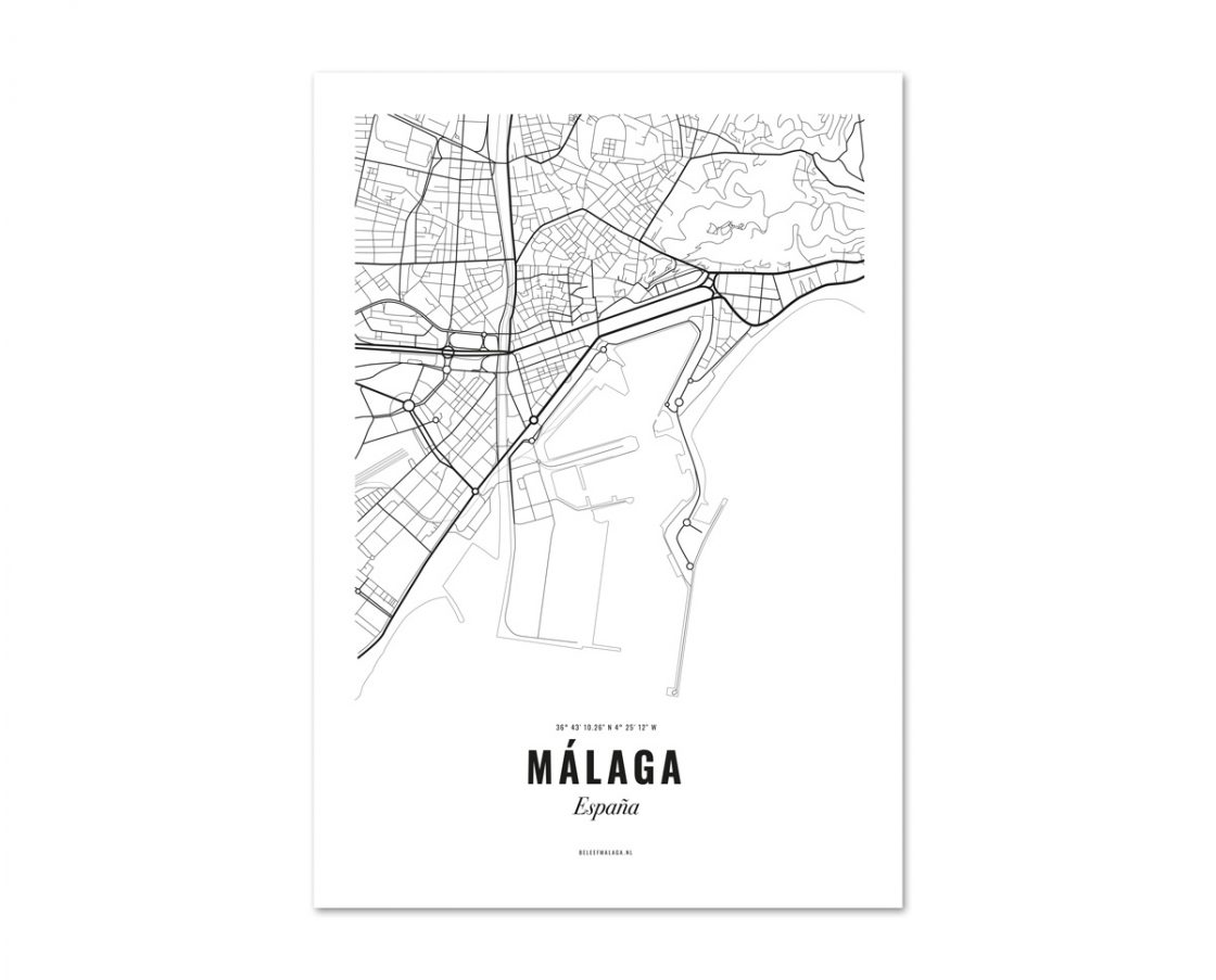 Malaga poster kaart
